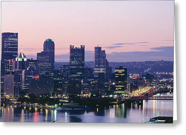 City Buildings Greeting Cards - Usa, Pennsylvania, Pittsburgh Greeting Card by Panoramic Images