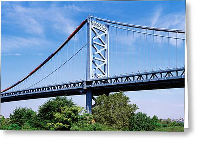 Delaware River Greeting Cards - Usa, Philadelphia, Pennsylvania Greeting Card by Panoramic Images