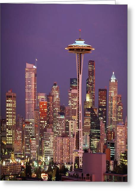 Self View Greeting Cards - Usa Seattle, Washington, The Space Greeting Card by Tips Images