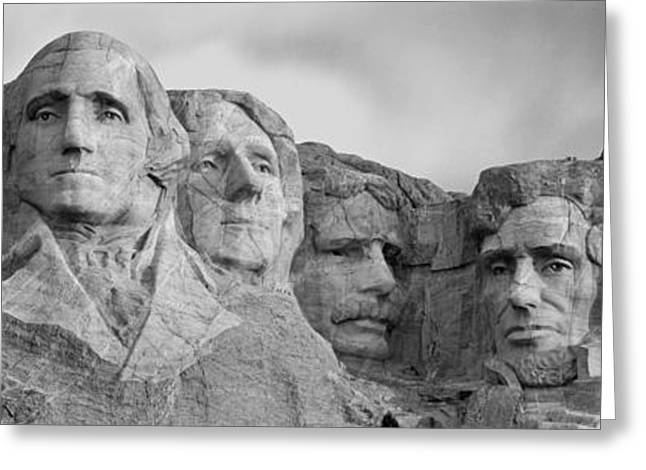 Usa, South Dakota, Mount Rushmore, Low Greeting Card by Panoramic Images