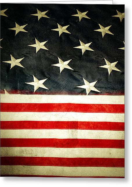 4th July Photographs Greeting Cards - USA stars and stripes Greeting Card by Les Cunliffe