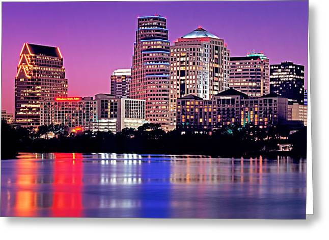 Austin Building Greeting Cards - Usa, Texas, Austin, View Of An Urban Greeting Card by Panoramic Images