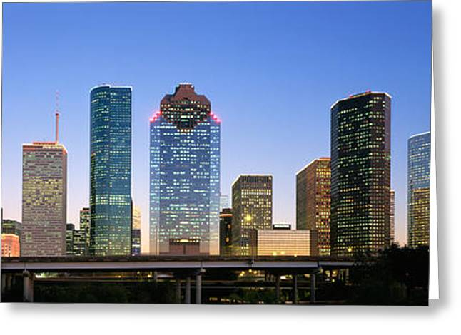 Bridge Highway Greeting Cards - Usa, Texas, Houston Greeting Card by Panoramic Images
