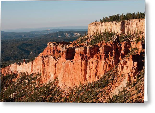 Usa, Utah, Dawn Light On Landscape Greeting Card by Lee Foster