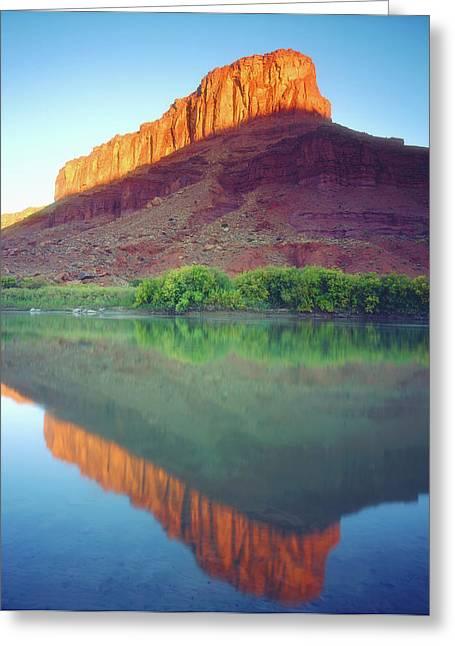 Usa, Utah, Sunlight On A Mesa Greeting Card by Jaynes Gallery