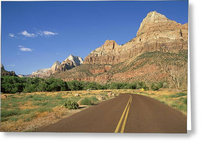Usa, Utah, Zion National Park � Angelo Greeting Card by Tips Images