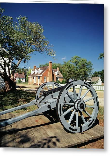 Usa, Virginia, Yorktown, Cannon Greeting Card by Walter Bibikow