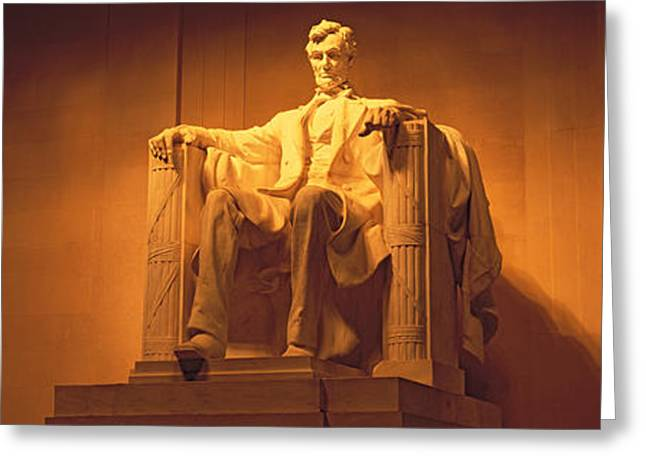 President Of America Photographs Greeting Cards - Usa, Washington Dc, Lincoln Memorial Greeting Card by Panoramic Images