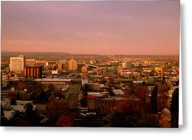 Usa, Washington, Spokane, Cliff Park Greeting Card by Panoramic Images