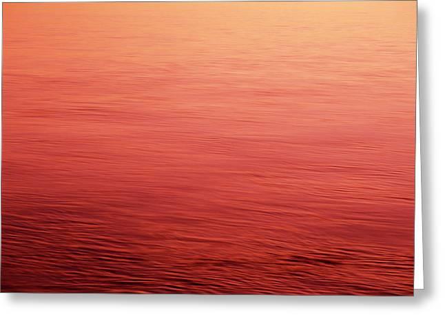 Usa, Washington State, View Of Sunset Greeting Card by Stuart Westmorland