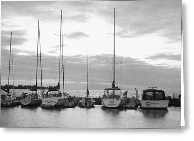 Docked Sailboat Greeting Cards - Usa, Wisconsin, Door County, Egg Greeting Card by Panoramic Images