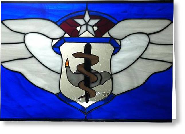 Flight Glass Greeting Cards - USAF Nurse Corp Cheif Flight Nurse Greeting Card by Karin Thue
