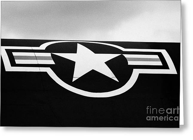 Usaf Star And Bars Insignia On A A12 Blackbird At The Intrepid Sea Air Space Museum  Greeting Card by Joe Fox