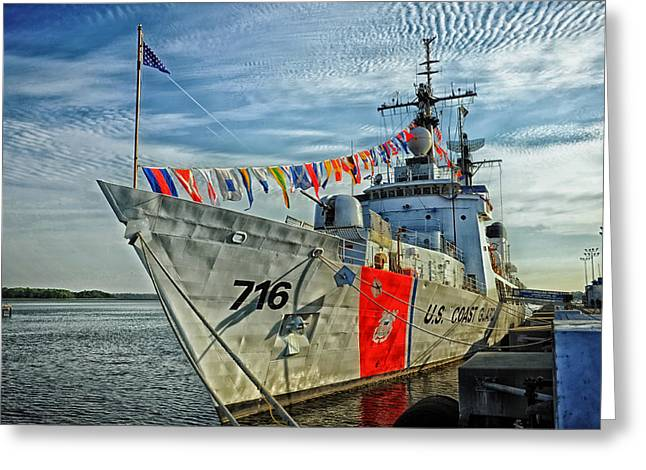 U.s. Coast Guard Greeting Cards - USCGC Dallas - Charleston South Carolina Greeting Card by Mountain Dreams