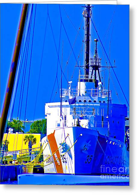Forida Greeting Cards - USCGC Ingham Greeting Card by Dieter  Lesche