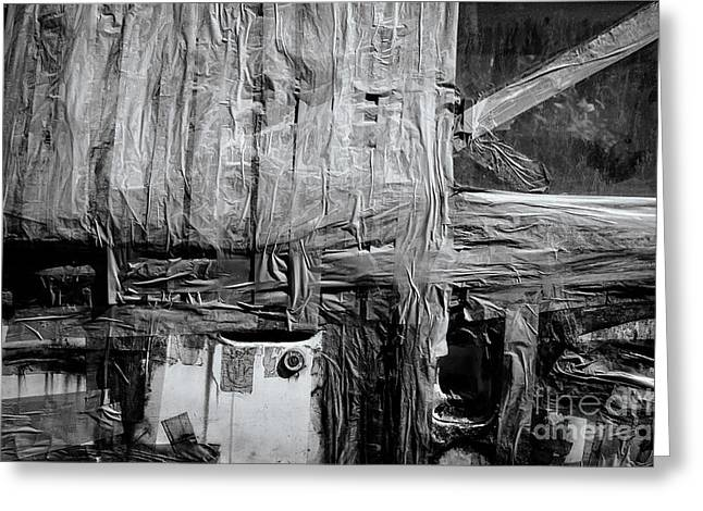 Backdoor Greeting Cards - Used Car Abstract III Greeting Card by Dean Harte