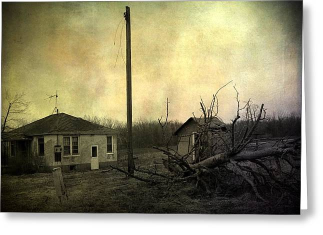 Abandoned Houses Greeting Cards - Used To Be Greeting Card by Gothicolors Donna Snyder