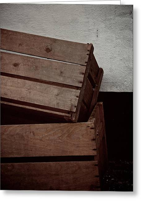 Apple Crates Greeting Cards - Useful Greeting Card by Odd Jeppesen