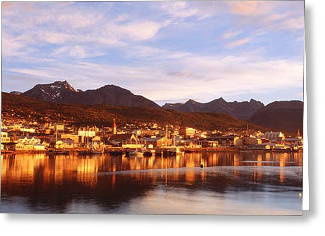 Cordoned Greeting Cards - Ushuaia Tierra Del Fuego Argentina Greeting Card by Panoramic Images
