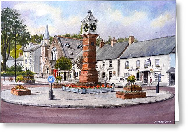 Quiet Read Greeting Cards - Usk in Bloom Greeting Card by Andrew Read