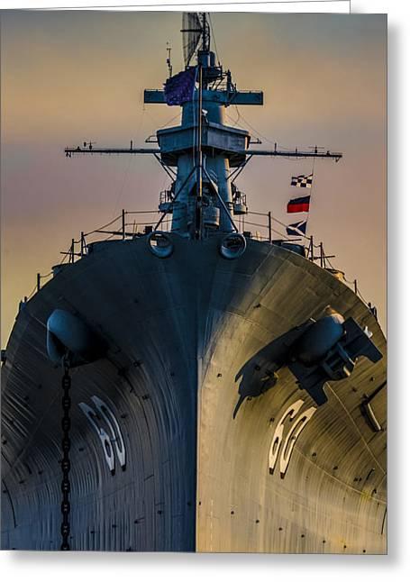 16 Inch Guns Greeting Cards - USS Alabama Greeting Card by Gej Jones