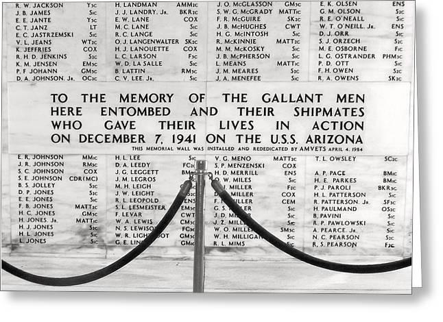 U.S.S. Arizona Pearl Harbor Memorial Greeting Card by Barbara West