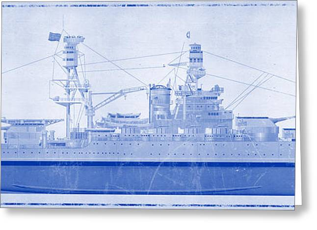 Wwi Greeting Cards - USS Arizona Greeting Card by Ryan Vosburg