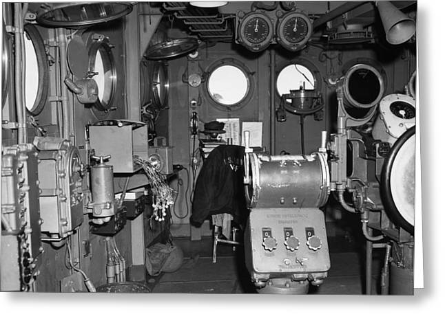Carrier Greeting Cards - Uss Bunker Hill: Interior Greeting Card by Granger