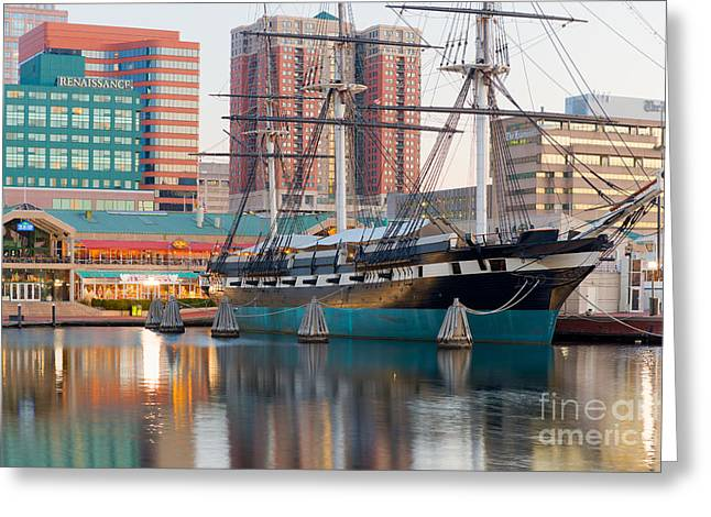 Constellations Photographs Greeting Cards - USS Constellation I Greeting Card by Clarence Holmes