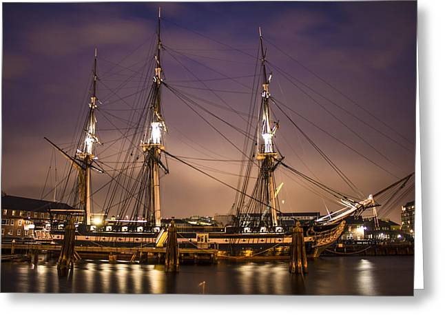 Recently Sold -  - New England Ocean Greeting Cards - USS Constitution Boston   Greeting Card by John McGraw