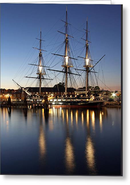 Uss Constitution Greeting Card by Juergen Roth