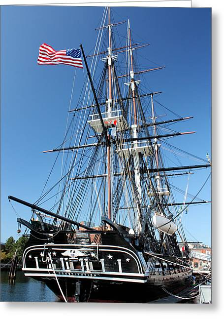 Uss Greeting Cards - USS Constitution Greeting Card by Kristin Elmquist