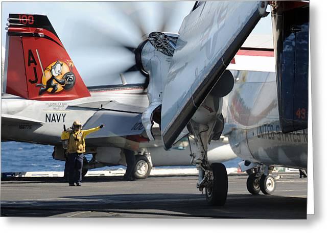 Carrier Greeting Cards - USS George H.W. Bush Greeting Card by Seaman Michael Smevog