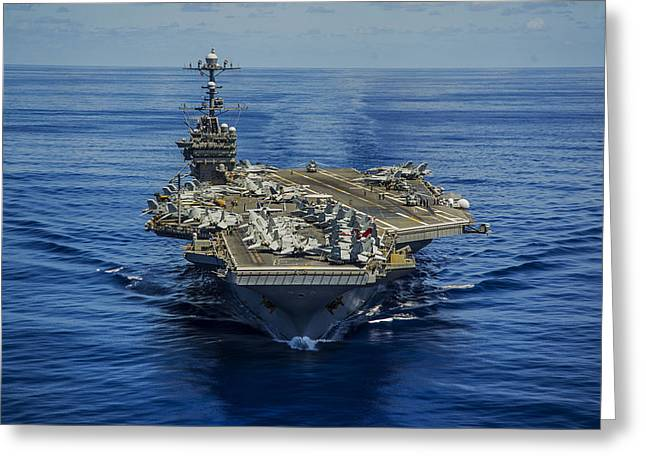 Carrier Greeting Cards - USS George Washington Greeting Card by Specialist 1st Class Trevor Welsh