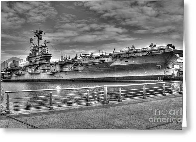 Carrier Greeting Cards - USS Intrepid Greeting Card by Anthony Sacco