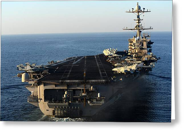 Military Might Greeting Cards - USS John C Stennis Greeting Card by Mountain Dreams