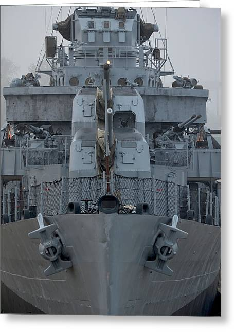 Uss Kidd Dd 661 Front View Greeting Card by Maggy Marsh