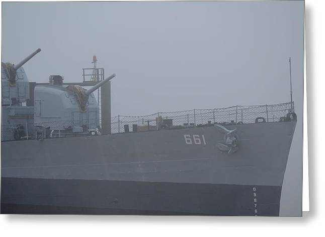 Drydock Company Greeting Cards - USS Kidd dd 661 Greeting Card by Maggy Marsh