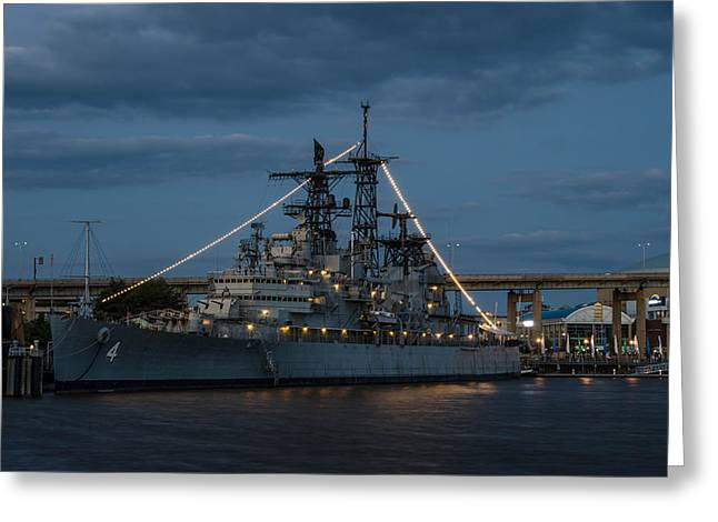 Guy Whiteley Greeting Cards - USS Little Rock CLG 4 Greeting Card by Guy Whiteley