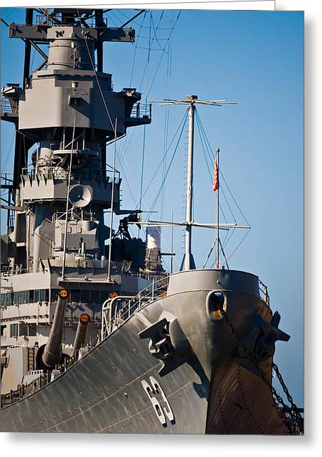 Historic Places Greeting Cards - Uss Missouri, Pearl Harbor, Honolulu Greeting Card by Panoramic Images