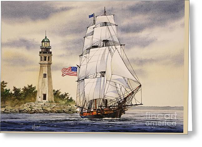 Uss Greeting Cards - Uss Niagara Greeting Card by James Williamson