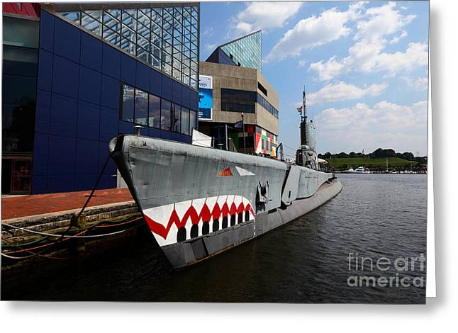 Ss Unites States Greeting Cards - USS Torsk Baltimore Greeting Card by James Brunker