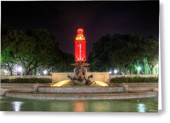 University Of Texas Greeting Cards - UT Tower 1 Greeting Card by Andrew Nourse