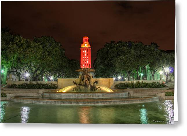 University Of Texas At Austin Greeting Cards - UT Tower 12 Greeting Card by Andrew Nourse