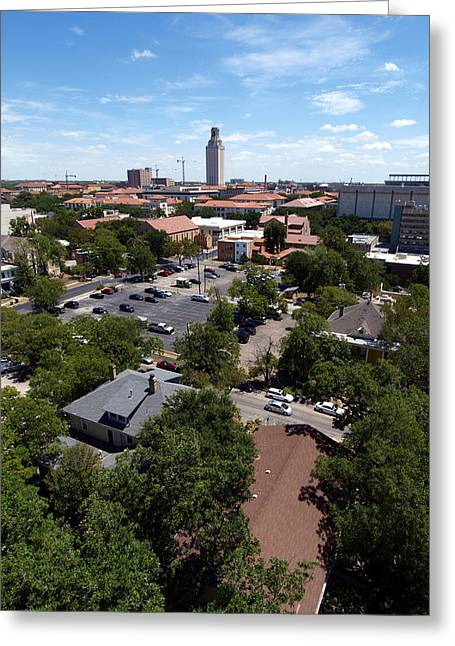 Ut Tower Greeting Cards - UT Tower 2009 and campus area Greeting Card by James Granberry