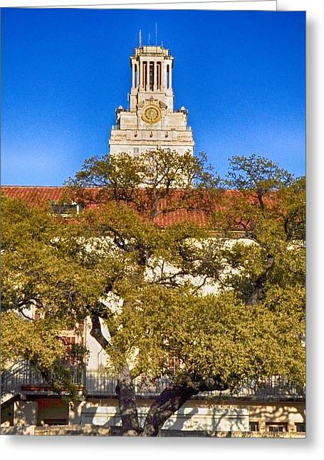 University Of Texas At Austin Greeting Cards - UT Tower Greeting Card by Kristina Deane