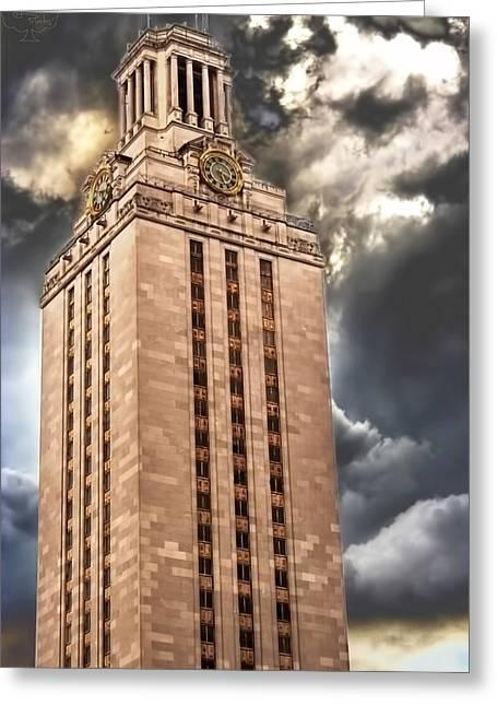Ut Tower Greeting Card by Tejas Prints