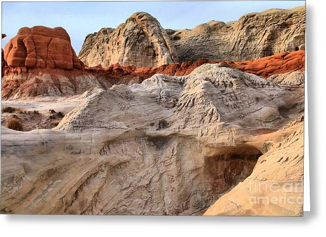 Toadstools Greeting Cards - Utah Badlands Greeting Card by Adam Jewell