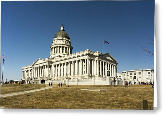 Excuse Greeting Cards - Utah Capitol Greeting Card by Helix Games Photography