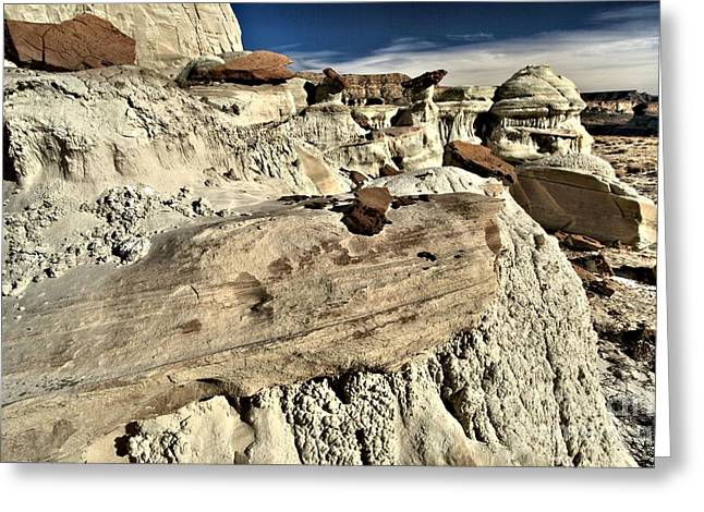 Wahweap Greeting Cards - Utah Erosion Greeting Card by Adam Jewell